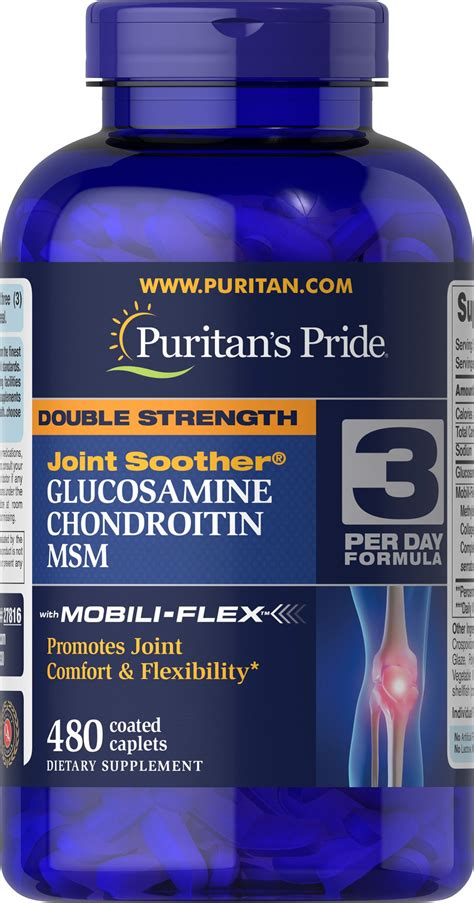 Puritans Pride Double Strength Glucosamine Chondroitin MSM