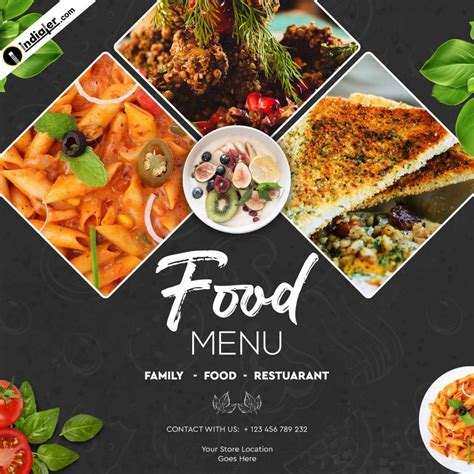 Food Banner Design Template Free PSD Download - Indiater