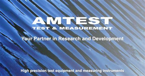 Amtest TM, visiting card - Company - Amtest, test and