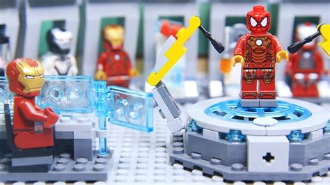 Lego IRON MAN's ARMOR was Stolen by SPIDERMAN - YouTube