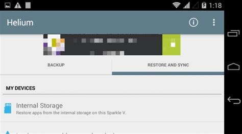 Helium for Android: Backup Installed Apps, SMS, Call Logs