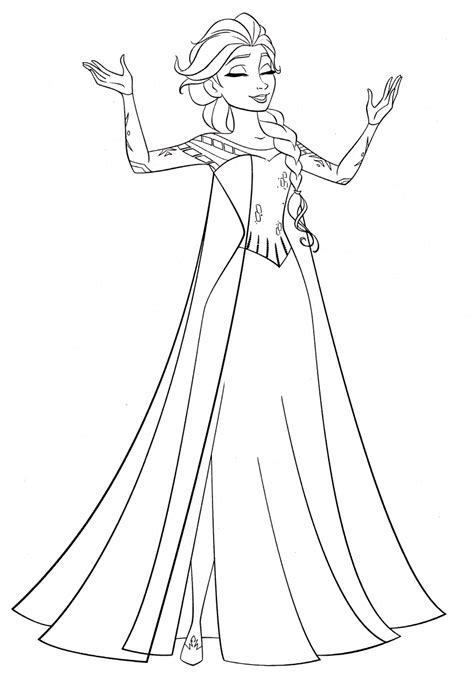 Get This Disney Queen Elsa Coloring Pages Frozen - 61729