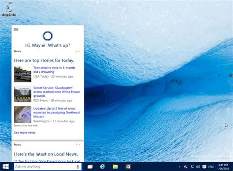 Get Cortana working in Windows 10 in the UK, and other non