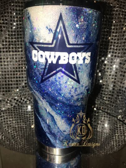 Glitter Marble Dallas Cowboys Stainless Steel Tumbler on