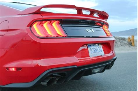 2018-2020 Ford Mustang Performance Pack Matte Black Rear