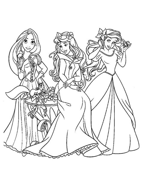 Disney princess coloring pages to print