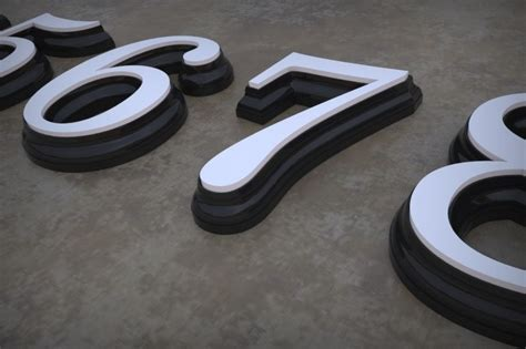 LED house numbers free 3D Model 3D printable STL PDF
