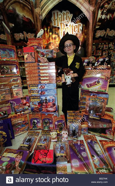 Harry Potter toys and games, October 2001 Boy dressed as a