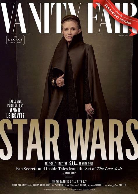 Vanity Fair | Star wars film, Last jedi, Carrie fisher