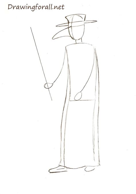 How to Draw a Plague Doctor | Drawingforall