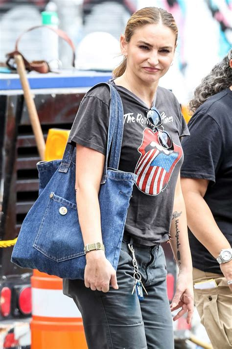 Drea de Matteo – In a Rolling Stones t-shirt out in NYC