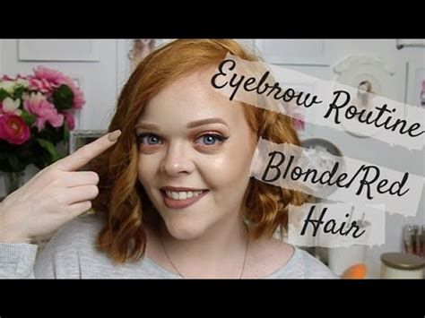 My Eyebrow Routine | For Blonde or Red Hair | Anastasia