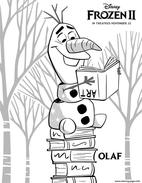 Frozen 2 Olaf Coloring Pages Printable