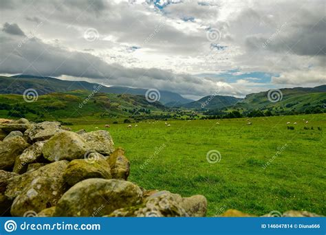 The Lake District National Park Stock Photo - Image of
