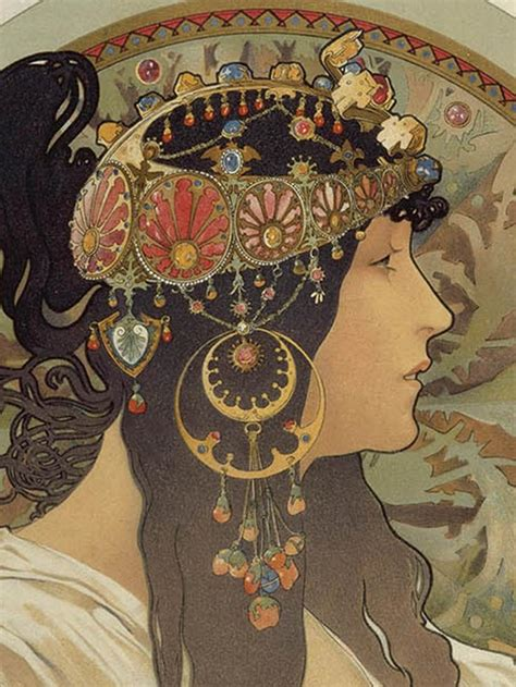 Mucha's Art Nouveau jewelry - The French Jewelry Post by