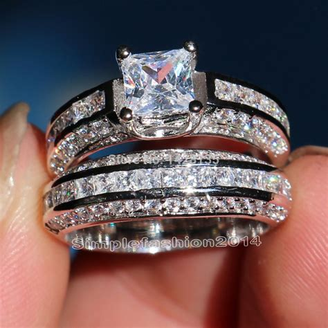 New Jewelry Nice Engagement 10KT White Gold Fille White