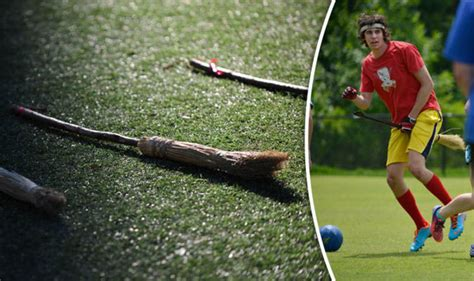 Harry Potter fans playing Quidditch: Fantasy sport comes