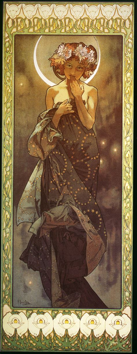 Alphonse Mucha | Talking to myself about colour light form