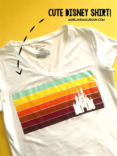 Diy a Disney shirt with no electronic cutter! - A girl and