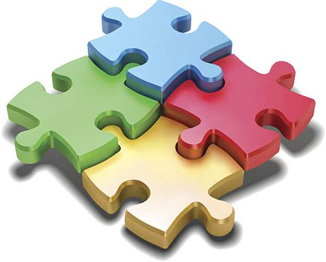 Best Jigsaw Puzzle Illustrations, Royalty-Free Vector