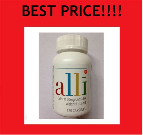 ALLI Weight Loss Aid 120 Pill / Capsule Refill Pack